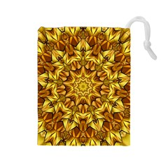 Abstract Antique Art Background Drawstring Pouches (large)