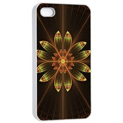 Fractal Floral Mandala Abstract Apple Iphone 4/4s Seamless Case (white)