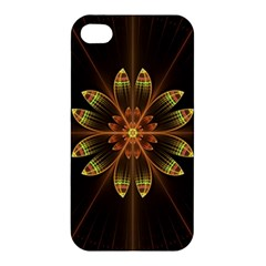 Fractal Floral Mandala Abstract Apple Iphone 4/4s Premium Hardshell Case