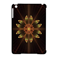 Fractal Floral Mandala Abstract Apple Ipad Mini Hardshell Case (compatible With Smart Cover)