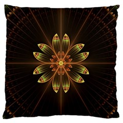 Fractal Floral Mandala Abstract Large Flano Cushion Case (two Sides)