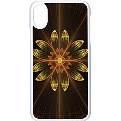 Fractal Floral Mandala Abstract Apple Iphone X Seamless Case (white)