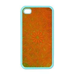 Background Paper Vintage Orange Apple Iphone 4 Case (color)