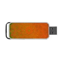 Background Paper Vintage Orange Portable Usb Flash (one Side)
