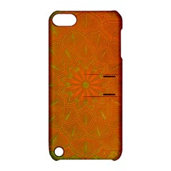 Background Paper Vintage Orange Apple Ipod Touch 5 Hardshell Case With Stand