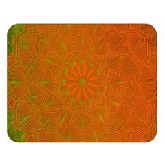 Background Paper Vintage Orange Double Sided Flano Blanket (large)