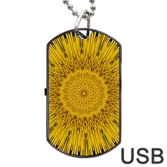 Pattern Petals Pipes Plants Dog Tag Usb Flash (one Side)