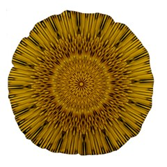 Pattern Petals Pipes Plants Large 18  Premium Round Cushions