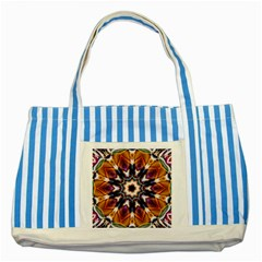 Kaleidoscope Pattern Kaleydograf Striped Blue Tote Bag