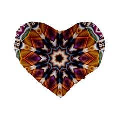 Kaleidoscope Pattern Kaleydograf Standard 16  Premium Flano Heart Shape Cushions