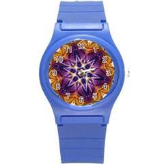 Kaleidoscope Pattern Kaleydograf Round Plastic Sport Watch (s)