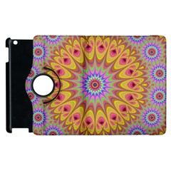 Geometric Flower Oriental Ornament Apple Ipad 2 Flip 360 Case