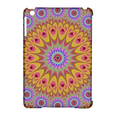 Geometric Flower Oriental Ornament Apple Ipad Mini Hardshell Case (compatible With Smart Cover)