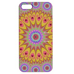 Geometric Flower Oriental Ornament Apple Iphone 5 Hardshell Case With Stand