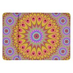 Geometric Flower Oriental Ornament Samsung Galaxy Tab 8 9  P7300 Flip Case