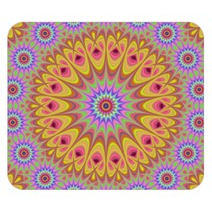 Geometric Flower Oriental Ornament Double Sided Flano Blanket (small)