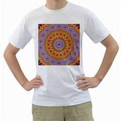 Geometric Flower Oriental Ornament Men s T Shirt (white)