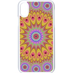 Geometric Flower Oriental Ornament Apple Iphone X Seamless Case (white)