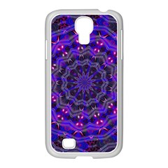 Purple Kaleidoscope Mandala Pattern Samsung Galaxy S4 I9500/ I9505 Case (white)