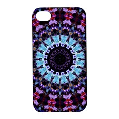 Kaleidoscope Shape Abstract Design Apple Iphone 4/4s Hardshell Case With Stand
