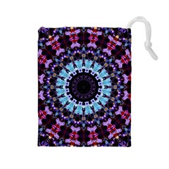 Kaleidoscope Shape Abstract Design Drawstring Pouches (large)