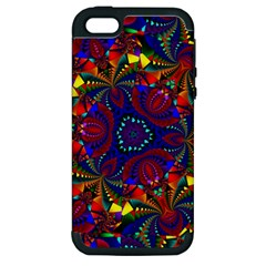 Kaleidoscope Pattern Ornament Apple Iphone 5 Hardshell Case (pc+silicone)