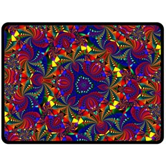 Kaleidoscope Pattern Ornament Double Sided Fleece Blanket (large)