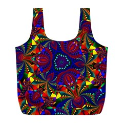 Kaleidoscope Pattern Ornament Full Print Recycle Bags (l)