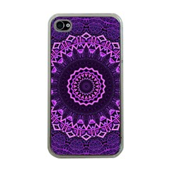 Mandala Purple Mandalas Balance Apple Iphone 4 Case (clear)