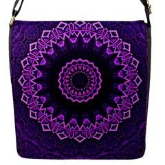 Mandala Purple Mandalas Balance Flap Messenger Bag (s)