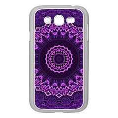 Mandala Purple Mandalas Balance Samsung Galaxy Grand Duos I9082 Case (white)