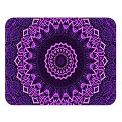 Mandala Purple Mandalas Balance Double Sided Flano Blanket (large)