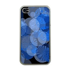 Circle Rings Abstract Optics Apple Iphone 4 Case (clear)