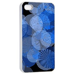 Circle Rings Abstract Optics Apple Iphone 4/4s Seamless Case (white)