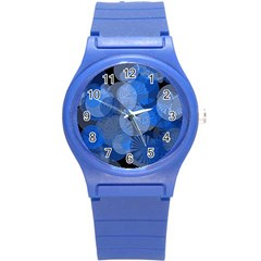 Circle Rings Abstract Optics Round Plastic Sport Watch (s)