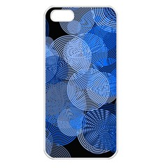Circle Rings Abstract Optics Apple Iphone 5 Seamless Case (white)