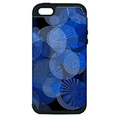 Circle Rings Abstract Optics Apple Iphone 5 Hardshell Case (pc+silicone)