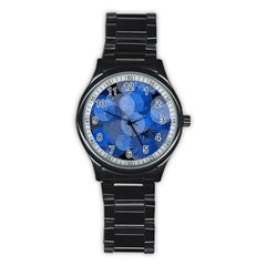 Circle Rings Abstract Optics Stainless Steel Round Watch