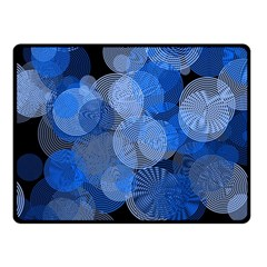 Circle Rings Abstract Optics Double Sided Fleece Blanket (small)