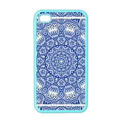 Blue Mandala Kaleidoscope Apple Iphone 4 Case (color)