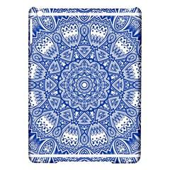 Blue Mandala Kaleidoscope Ipad Air Hardshell Cases