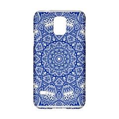Blue Mandala Kaleidoscope Samsung Galaxy S5 Hardshell Case