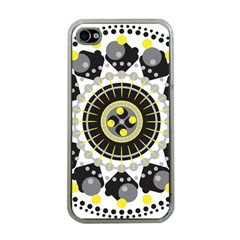 Mandala Geometric Design Pattern Apple Iphone 4 Case (clear)