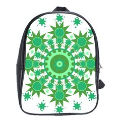 Mandala Geometric Pattern Shapes School Bag (xl)