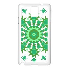 Mandala Geometric Pattern Shapes Samsung Galaxy Note 3 N9005 Case (white)