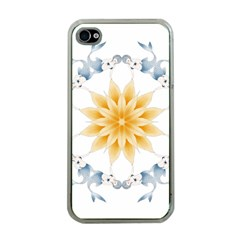 Mandala Mermaid Lake Rose Swimmers Apple Iphone 4 Case (clear)