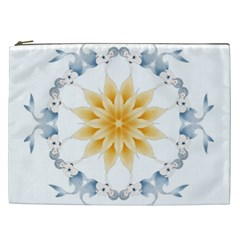 Mandala Mermaid Lake Rose Swimmers Cosmetic Bag (xxl)
