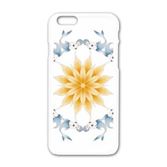 Mandala Mermaid Lake Rose Swimmers Apple Iphone 6/6s White Enamel Case