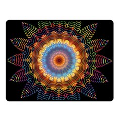 Colorful Prismatic Chromatic Double Sided Fleece Blanket (small)