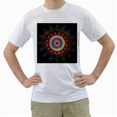 Colorful Prismatic Chromatic Men s T Shirt (white)